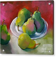 Pears Acrylic Print by Michelle Abrams