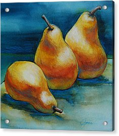 Acrylic Print featuring the painting Pears Of Three by Jani Freimann