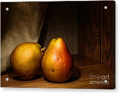 Pears Acrylic Print by Olivier Le Queinec