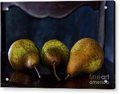 Pears On A Chair Acrylic Print