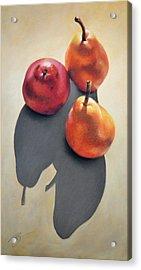 Pears Pastel Acrylic Print by Ben Kotyuk