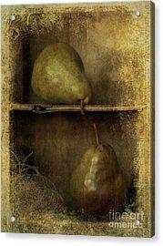 Pears Acrylic Print by Priska Wettstein