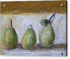 Pears Acrylic Print by Venus