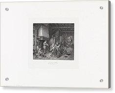Peasants Indoors, Christiaan Lodewijk Van Kesteren Acrylic Print by Quint Lox