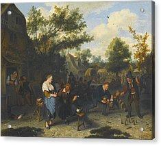Peasants Playing Skittles Before An Inn Acrylic Print