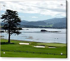 Pebble Beach 18th Green Carmel  Acrylic Print