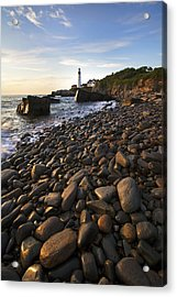 Pebble Beach Acrylic Print by Eric Gendron