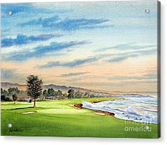 Pebble Beach Golf Course 18th Hole Acrylic Print