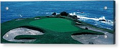 Pebble Beach Golf Course 8th Green Acrylic Print