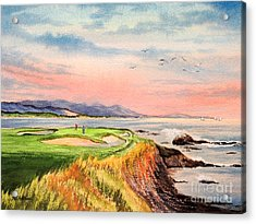 Pebble Beach Golf Course Hole 7 Acrylic Print
