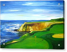 Pebble Beach Golf Course Acrylic Print