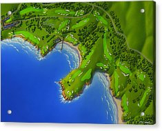 Pebble Beach Golf Course Acrylic Print by Robin Moline