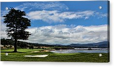 Pebble Beach - The 18th Hole Acrylic Print by Judy Vincent