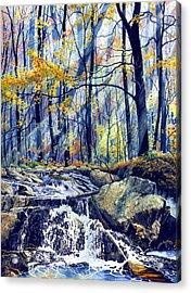Pebble Creek Autumn Acrylic Print by Hanne Lore Koehler