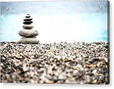 Pebble Stone On Beach Acrylic Print