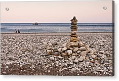 Acrylic Print featuring the photograph Pebble Tower by David Isaacson