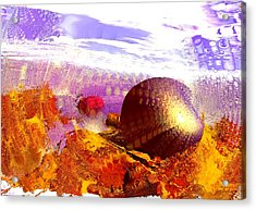Pebbles On A Beach Acrylic Print by Anastasiya Malakhova