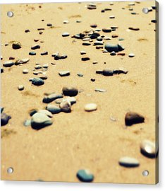Pebbles On The Beach Acrylic Print by Michelle Calkins