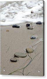 Pebbles On The Beach Acrylic Print by Terry Thomas