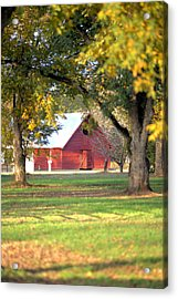 Acrylic Print featuring the photograph Pecan Orchard Barn by Gordon Elwell