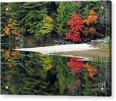 Peck Pond Autumn Reflections Ix Acrylic Print