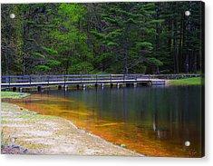 Peck Pond Acrylic Print by Lourry Legarde