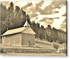 Acrylic Print featuring the photograph Pecos Roadside by William Wyckoff