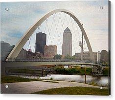 Acrylic Print featuring the photograph Pedestrian Bridge by Judy Hall-Folde