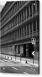 Pedestrian Crossing Acrylic Print by Arkady Kunysz