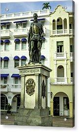 Pedro De Heredia, Founder Of Cartagena Acrylic Print