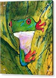 Peek-a-boo Frog Acrylic Print