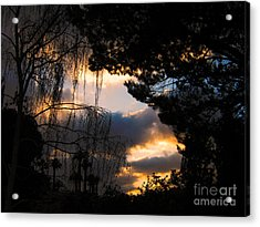 Acrylic Print featuring the photograph Peek A Boo Sunset by Janice Westerberg