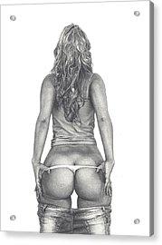 Peek-a-booty Acrylic Print by Salo Tabalus