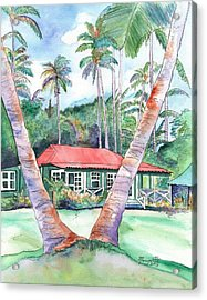 Peeking Between The Palm Trees 2 Acrylic Print
