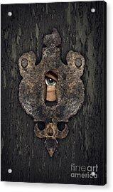 Peeking Eye Acrylic Print by Carlos Caetano