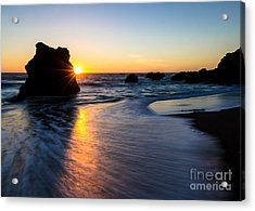 Acrylic Print featuring the photograph Peeking Sun by CML Brown