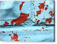 Peeling Paint Acrylic Print