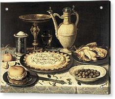 Peeters, Clara 1589-1676. Table. Ca Acrylic Print by Everett