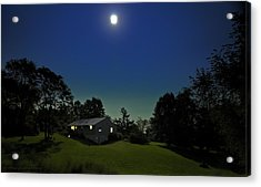 Acrylic Print featuring the photograph Pegasus And Moon by Greg Reed