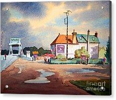 Pegasus Bridge And Cafe Gondree Acrylic Print by Bill Holkham