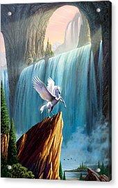 Pegasus Kingdom Acrylic Print by Garry Walton