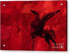 Pegasus Red Acrylic Print by Lutz Baar