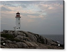 Peggy Point Lighthouse Acrylic Print by Tammy and Dale Anderson