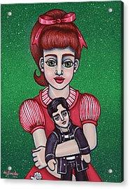 Peggy Sue Holding The King Acrylic Print by Victoria De Almeida
