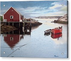 Peggys Cove Acrylic Print by Brent Ander