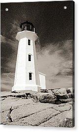 Peggy's Cove Lighthouse Acrylic Print by Arkady Kunysz