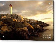 Peggys Cove Lighthouse Nova Scotia Acrylic Print