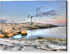 Peggy's Cove Lighthouse Acrylic Print by Shawn Everhart
