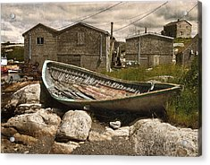 Peggy's Cove Nova Scotia  Acrylic Print by Cindy Rubin