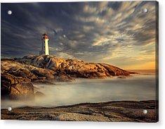 Peggy's Cove Nova Scotia Acrylic Print by Magda  Bognar